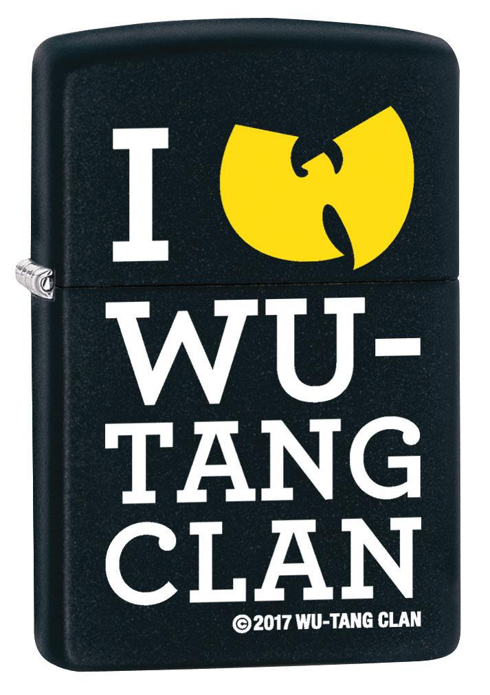Zippo Lighter: I Love Wu-Tang Clan - Black Matte 80349 (4269194838131)