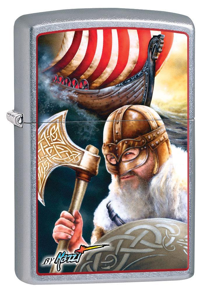 Zippo Lighter: Viking and Ship by Mazzi - Street Chrome 80358