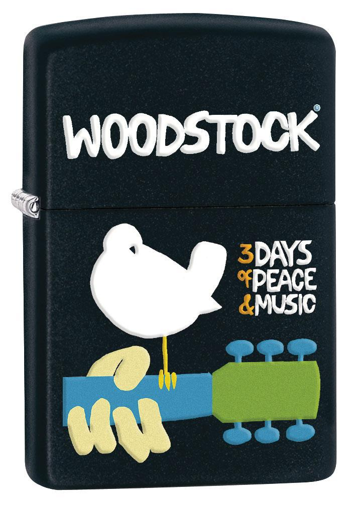 Zippo Lighter: Woodstock, 3 Days of Peace and Music - Black Matte 80406 (4269195526259)