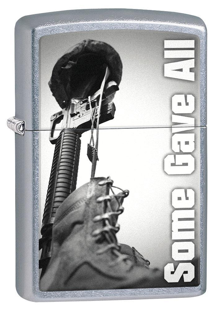 Zippo Lighter: Some Gave All Military Tribute - Street Chrome 80511