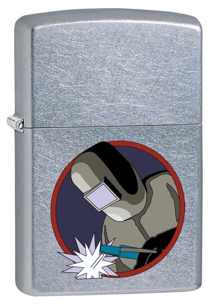 Zippo Lighter: Welder at Work - Street Chrome 80523