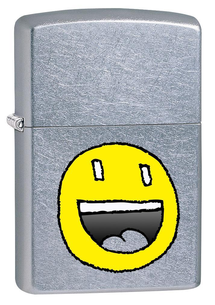 Zippo Lighter: Laughing Face - Street Chrome 80565 (4269197328499)