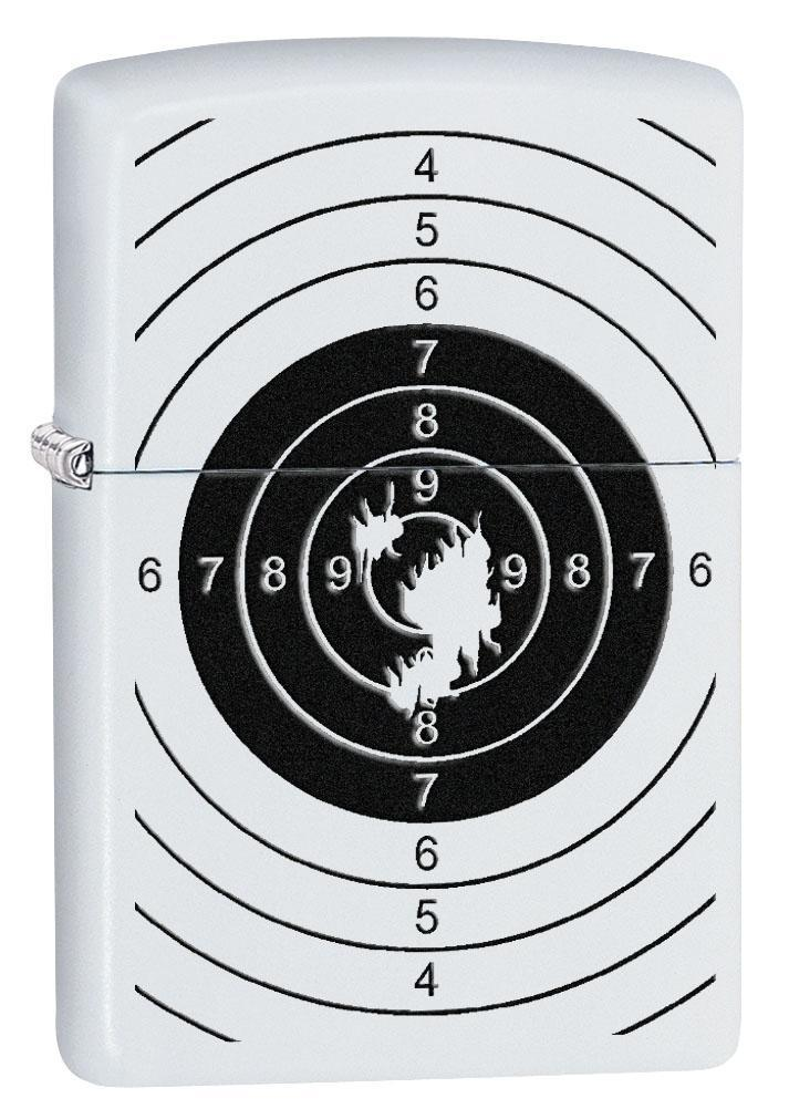 Zippo Lighter: Shooting Target with Holes - Brushed Chrome 80571