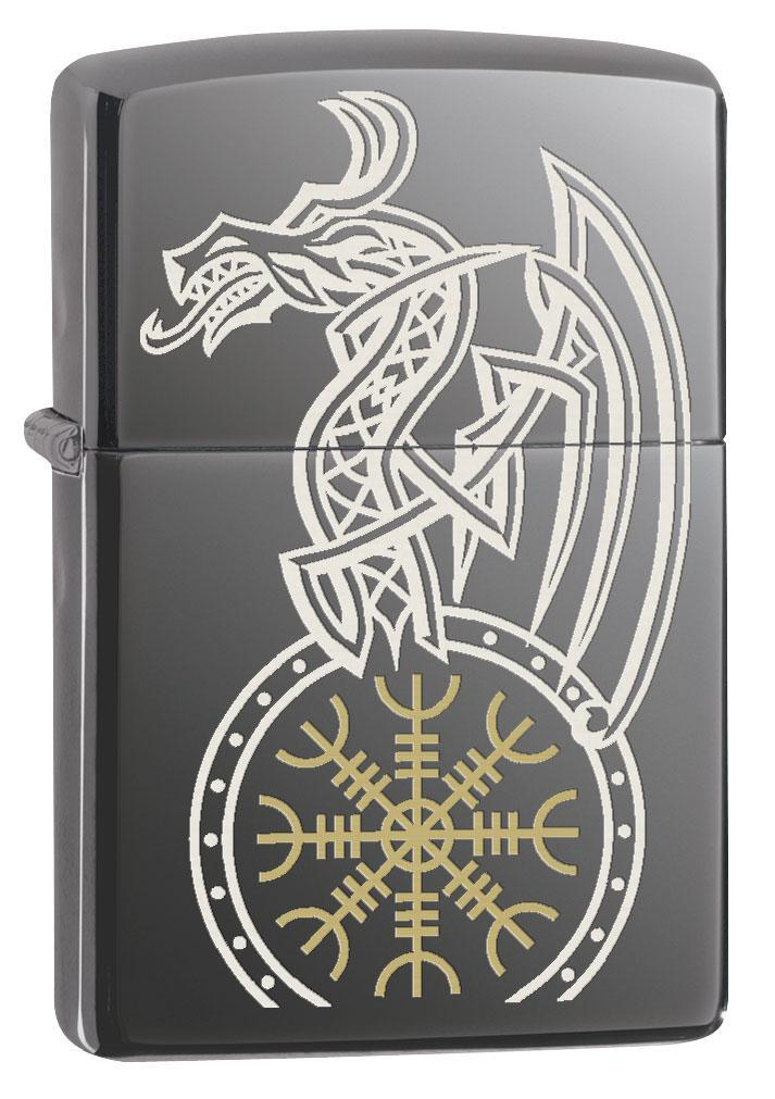 Zippo Lighter: Viking Dragon - Spectrum 80625