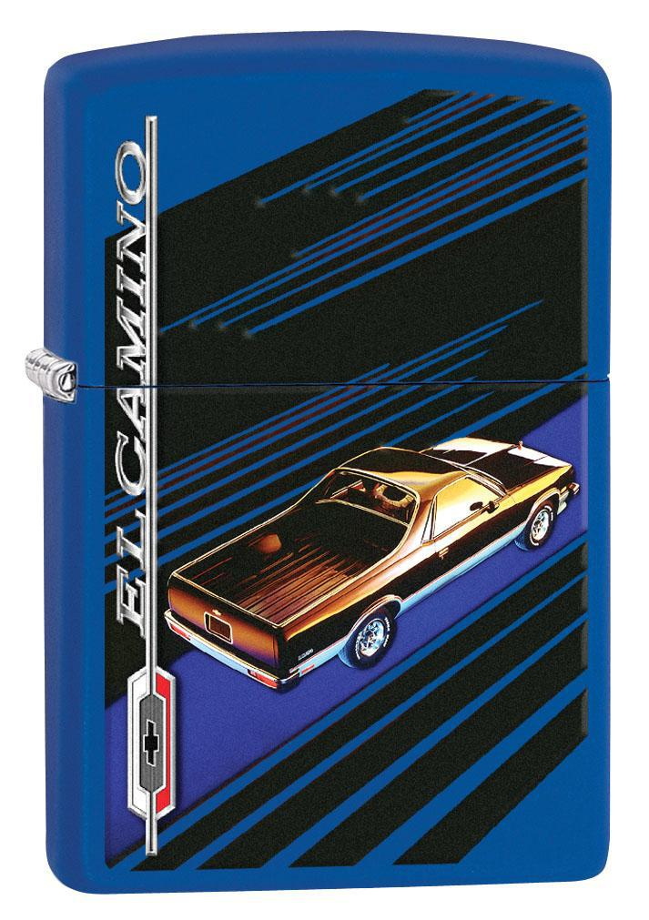Zippo Lighter: Chevrolet El Camino - Royal Blue Matte 80670
