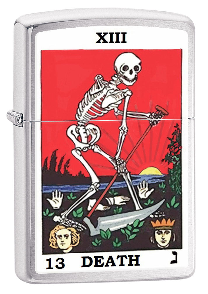 Zippo Lighter: Tarot Card 13, Death - Brushed Chrome 80717