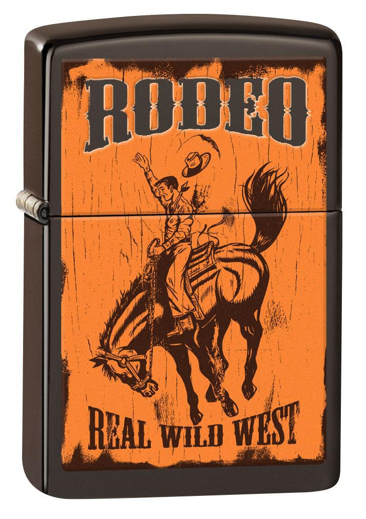 Zippo Lighter: Rodeo, Real Wild West - Brown 80843