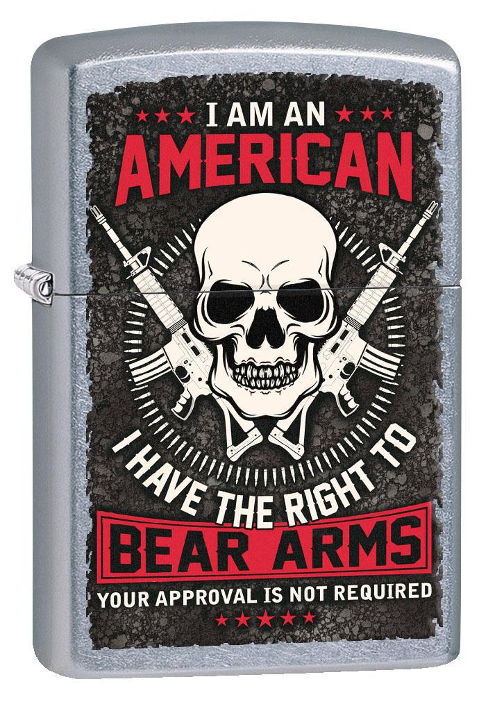 Zippo Lighter: The Right to Bear Arms - Street Chrome 80858