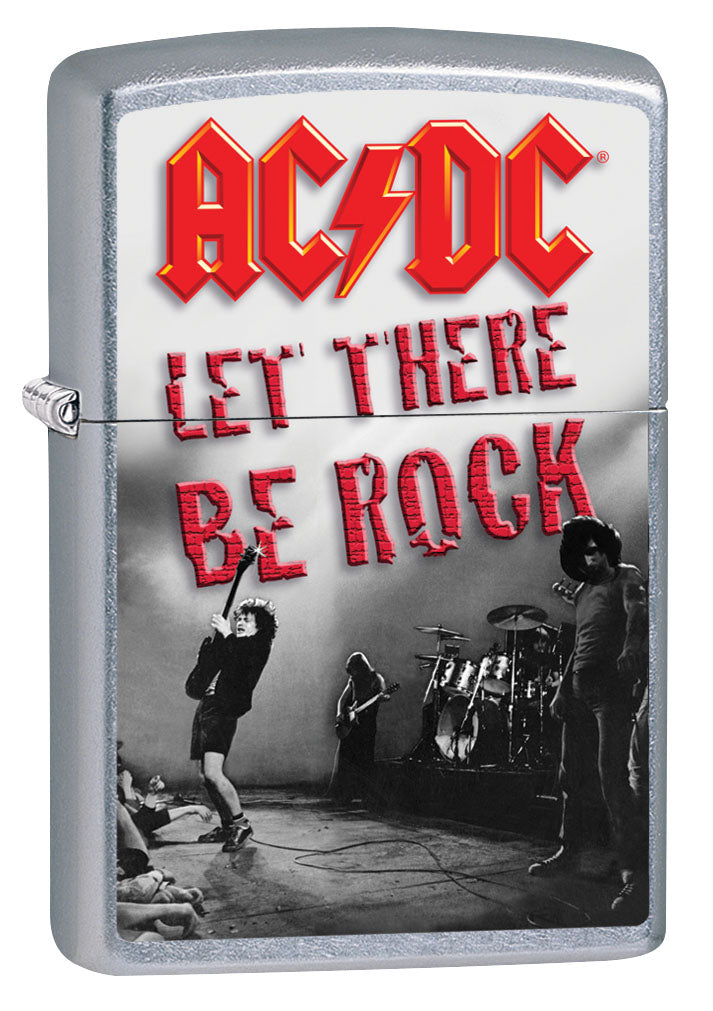 Zippo Lighter: AC/DC Let There be Rock - Street Chrome 80883