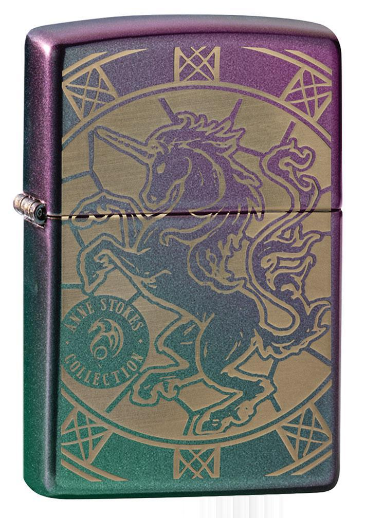 Zippo Lighter: Anne Stokes Engraved Horse - Iridescent Matte 80893