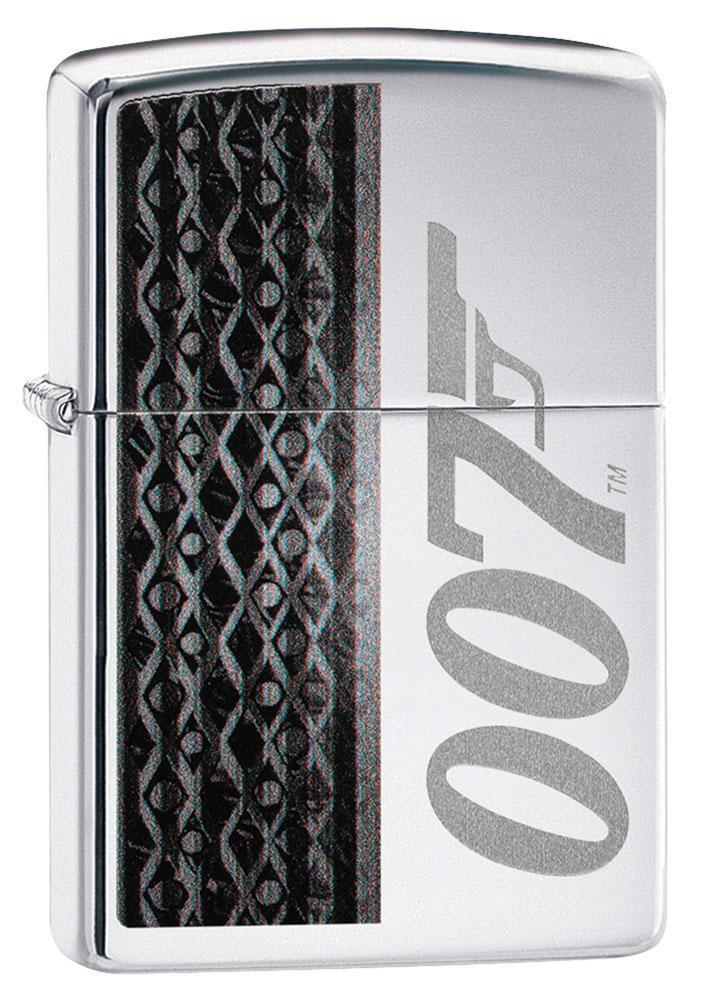 Zippo Lighter: James Bond Logo - High Polish Chrome 80917