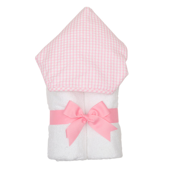 3 Marthas Pink Gingham Hooded Towel (Monogrammed)