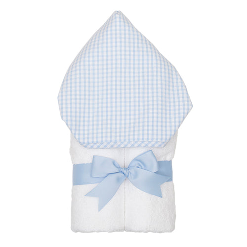 3 Marthas Blue Gingham Hooded Towel