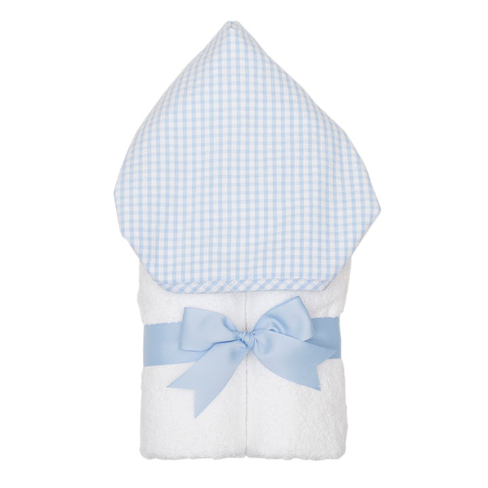 3 Marthas Blue Gingham Hooded Towel (Monogrammed)