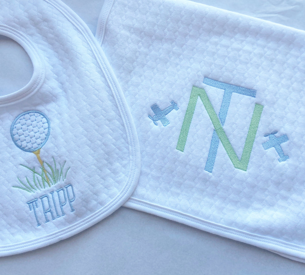 Quilted Cotton Bib