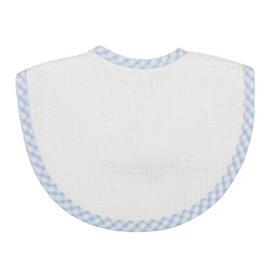 3 Marthas Blue Check Pique Medium Bib