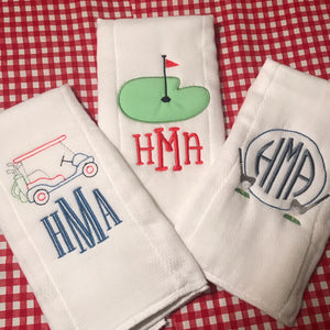 Baby Boy Golf Burp Cloth Set of Three