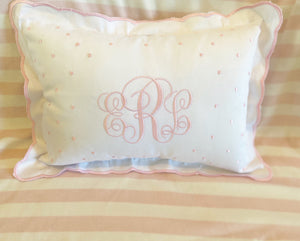 Scalloped Nursery Pillow