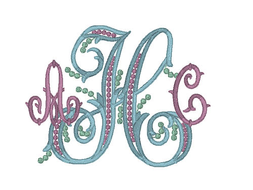 Berry Vine Monogram
