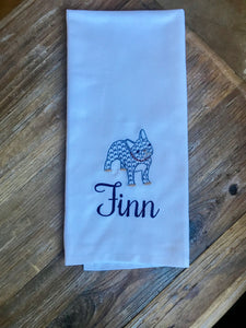 French Bulldog Dish Towel