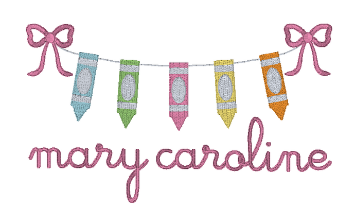 Crayon Banner with Bows