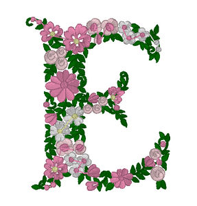 Floral Initial