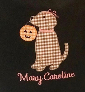 Halloween Dog Applique