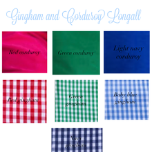Load image into Gallery viewer, Gingham and Corduroy Longall