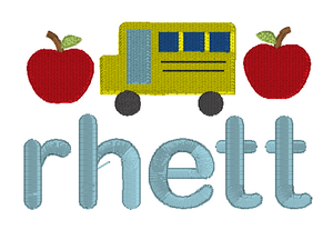 Bus and Apples