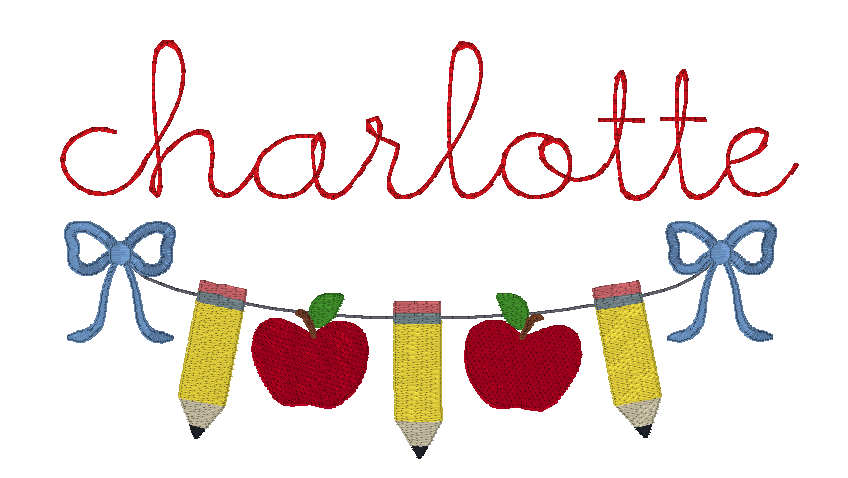 Pencil Banner with Bows