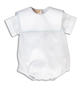 Boy's Bishop Collared Bubble - White or Blue Trim