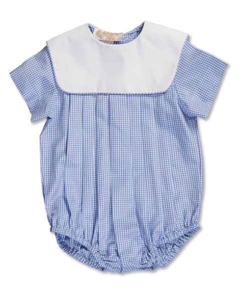 Boy's Light Blue Gingham Bubble