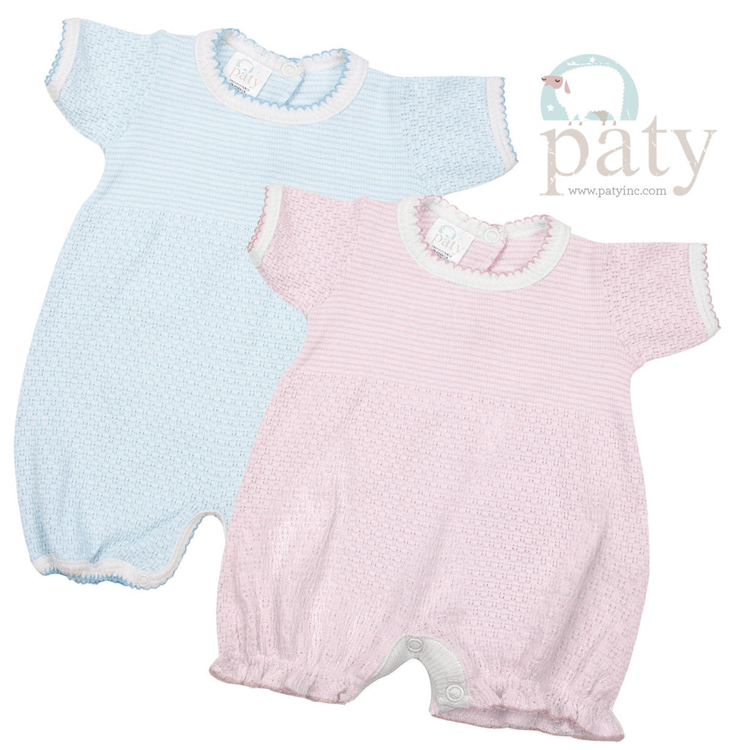 Solid Colored Paty Knit Bubble