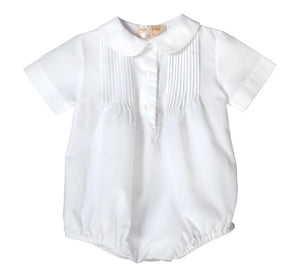 White pleated boy bubble