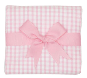 3 Marthas Pink Check Burp Cloth