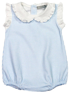Light Blue Gingham Bubble