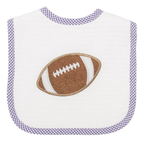3 Marthas Football Applique Bib