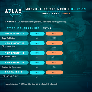 Workout of the Week 04-29-19: FST- 7 Week 5 - Arms