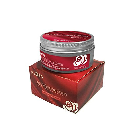 BeShiny Skin Whitening Cream Face Lightening Cream Kojic Acid Glutathione Vitamin C Hyaluronic Acid