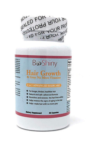 Hair Growth Vitamins with Biotin. Exclusive No More Grey Hair Product for Women