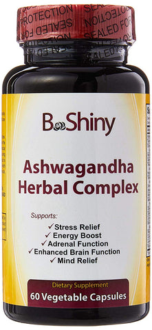 Ashwagandha Herbal Complex Supplement for Stress Relief, Anti-Anxiety, Adrenal, Mood Support