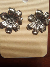 Load image into Gallery viewer, Flowers With Stud Back Posts~Sterling Silver Plated
