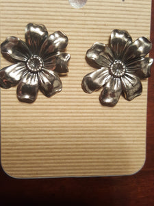 Flowers With Stud Back Posts~Sterling Silver Plated