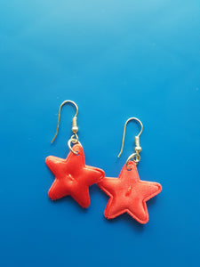 Star Earrings~Red, White & Blue