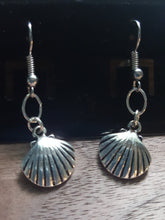 Load image into Gallery viewer, Seashell Earrings~Sterling Silver Plated or 14k Plated