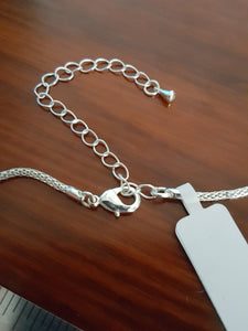 Opalescent Pendant Cross~Sterling Silver Plated, 24~inch Chain With A 3~inch Extender
