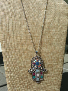 Hamsa~Universal Sign Of Good Luck~Protection From The Evil Eye~Sterling Silver Plated