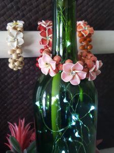 Hawaiian Beachy~Beaded Cluster Bracelets With Flowers