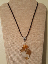Load image into Gallery viewer, Honey, Frosty White & Rare Orange~Seaglass Pendant