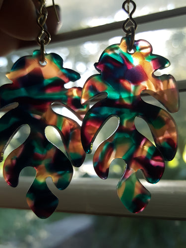 Tropical Palm Frond Dangles~Multi-Color